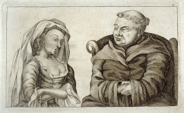 A Priest Listens to an Attractive Maiden, plate 11 from Tim Bobbin [pseudonym of John Collier], Human Passions Delineated (1773)