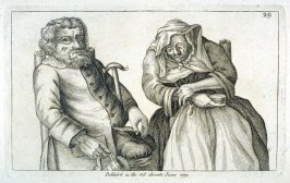 A Seated Old Couple, He Drinks, She Smokes, plate 29 from Tim Bobbin [pseudonym of John Collier], Human Passions Delineated (1773)