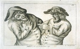 A Smiling Man, Hand Raised. An Angry Man With Finger Pointing, plate 31 from Tim Bobbin [pseudonym of John Collier], Human Passions Delineated (1773)