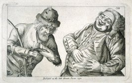 A Pauper and a Fat Rich Man, plate 38 from Tim Bobbin [pseudonym of John Collier], Human Passions Delineated (1773)