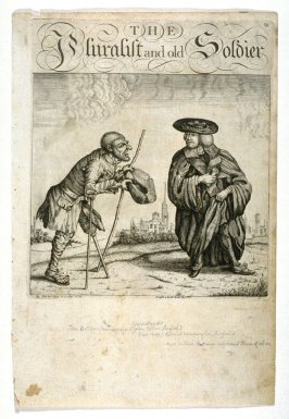 The Pluralist and Old Soldier, plate 59 from Tim Bobbin [pseudonym of John Collier], Human Passions Delineated (1773)