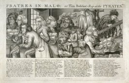 Fratres in Malo or Tim Bobbins Rap at the Pyrates, plate 40 from Tim Bobbin [pseudonym of John Collier], Human Passions Delineated (1773)