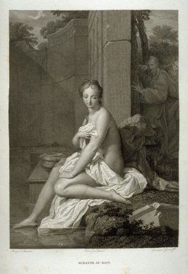 Suzanne au Bain (Suzanne at the bath).. twentieth plate in the book. Le Musée royal (Paris: P. Didot, l'ainé, 1818), vol. 2