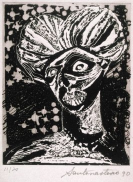 Untitled ( bust of a woman), thirteenth plate in the portfolio of the book, Ko-Koi, Noanamá (San Diego: Tuhana Press, 1991)