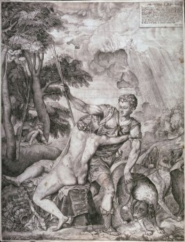 Venus and Adonis  after Titian  1559 Venus And Adonis Titian