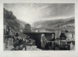 Plate 12: Kirkstall, Lock, on the River Aire, from the series 'The Rivers of England' (1823-1827)