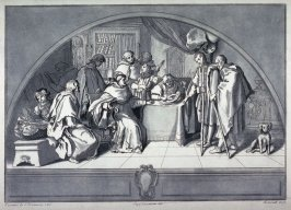 A Bishop Receiving the Contents of the Collection Plate, after Coccopani, from the series Disegni originali d'eccelenti pittori...