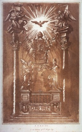The Throne of St. Peter, after Bernini's High Altar of St. Peter's, The Vatican Rome, from the series Disegni originali d'eccelenti pittori...