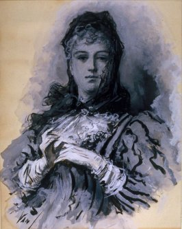 """Portrait of a Lady: Illustration for """" The Avenger of the Seven"""""""