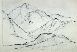 Page 6 in the untitled Sketchbook of Mountain Scenes