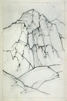 Page 9 in the untitled Sketchbook of Mountain Scenes