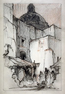 Page 3 in the untitled Sketchbook of Mexican Scenes