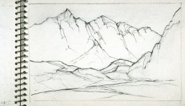 Page 13 in the untitled Sketchbook of Mountain Scenes