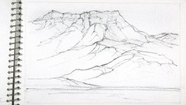 Page 16 in the untitled Sketchbook of Mountain Scenes