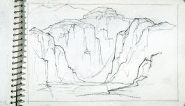 Page 19 in the untitled Sketchbook of Mountain Scenes