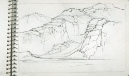 Page 20 in the untitled Sketchbook of Mountain Scenes