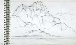Page 22 in the untitled Sketchbook of Mountain Scenes