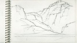 Page 23 in the untitled Sketchbook of Mountain Scenes