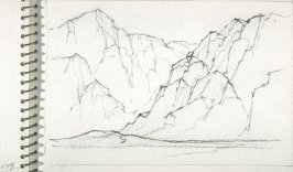 Page 24 in the untitled Sketchbook of Mountain Scenes