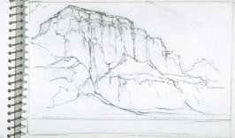 Page 25 in the untitled Sketchbook of Mountain Scenes