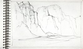 Page 27 in the untitled Sketchbook of Mountain Scenes