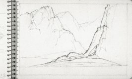 Page 29 in the untitled Sketchbook of Mountain Scenes