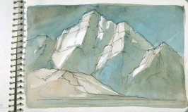 Page 18 in the untitled Sketchbook of Mountain Scenes