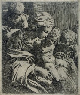 The Holy Family with St. John, after Schidone