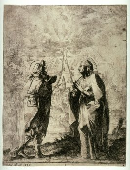Saint Anne and Saint Joachim after the etching by Ventura Salimbeni