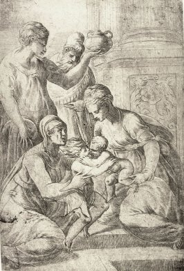 Jesus and St. John Embracing in the Presence of Saints