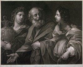 Lot and his Daughters, after Guido Reni (from the series Gallery of Pictures?)