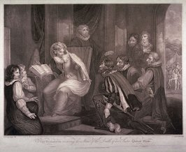 Queen Elizabeth Receiving the News of the Death of her Sister Queen Mary, after R. Westall