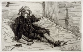 """Apres"" (A young man, sick after having smoked a pipe in the barn )"