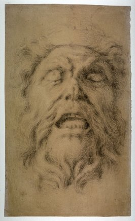 Head of a Dying Warrior, study for a keystone figure in the Arsenal, Berlin