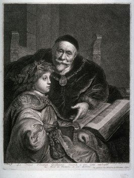 The Prince of Orange, William II, being instructed by Oats
