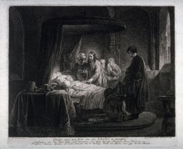 Christ at the sick bed of the daughter of Fairo