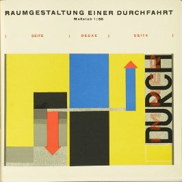 "Bühnenwerkstatt: Bühnenentwurf für ""Das mechanische Ballett,"" Plate IX, pg. 153, in the book Staatliches Bauhaus Weimar, 1919 - 1923 by Walter Gropius (Munich: Bauhausverlag, 1923)"