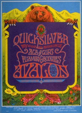 """Dancing Bear,"" Quicksilver Messenger Service, Ace of Cups, Flamin' Groovies, May 10 - 12, Avalon Ballroom"