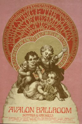 """""""Triplets,"""" Jerry Steig & the Satyrs, Sons of Champlin, 4th Way, Alexander's Timeless Bloozband, March 29 - 31, Avalon Ballroom"""