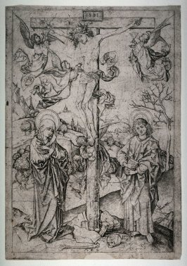 Christ on the Cross with Four Angels