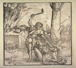 Cain killing Abel (front); and The dove returning to the ark with olive branch (back)