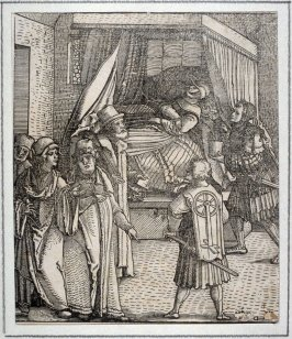 Theuerdank on his Sickbed, from Theuerdank (Allegorical work commissioned by Emperor Maximilian I )