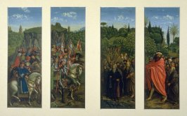 Judges and Warriors, Hermits and Pilgrims, side panels from the Adoration of the Lamb