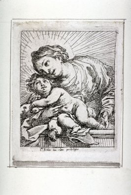 One of four Etchings: [Madonna and Child]