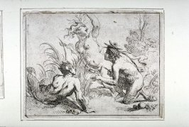 One of four Etchings: [Three satyrs]