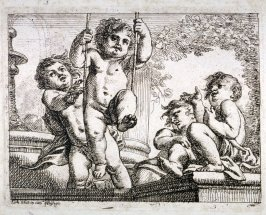 Four Children and a Swing