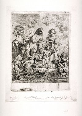 The Holy Family with Angels Offering Fruit