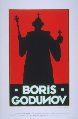 Boris Godunov, poster for the San Francisco Opera