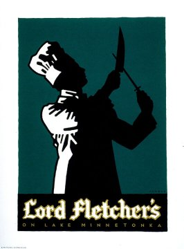 Lord Fletcher's, poster for the restaurant in Minneapolis