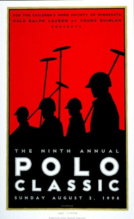 Ninth Annual Polo Classic, poster for Polo Retail Corporation, Denver